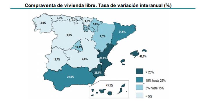 几张数据图告诉你 西班牙房产交易有多火